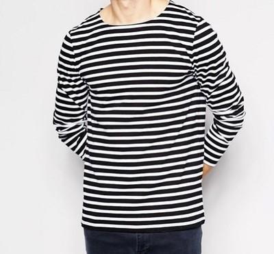 h77 bluzka exASOS T-shirt długi rękaw pasiasta S
