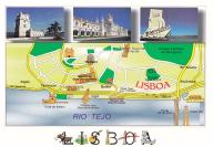 Lizbona - unesco - z mapką