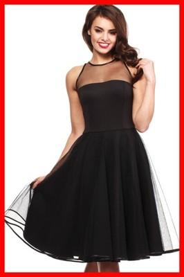 52d0c532 MOE148 Wieczorowa sukienka tiulowa czarna 42 XL - 6606256951 ...