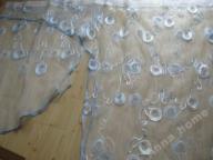 Cudo firana haft wstążeczkowy woal błękit 332 cm