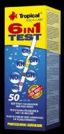 TROPICAL 6IN1 TEST PASKOWY 50s.pH,KH,GH,NO2,NO3,Cl