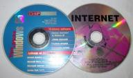 Zestaw 2 płyt CD Chip Windows 95 INTERNET software
