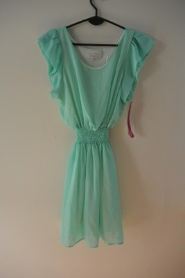 43755d4bfd miętowa zwiewna sukienka szyfonowa 38 M - 6684660985 - oficjalne ...