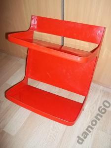 Plastikowa Czerwona Półka Do łazienki Kuchni Tanio
