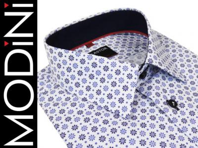 25d19a186043 Biała koszula męska Kastor kwiatki M 39 40 SLIM - 5836175311 ...