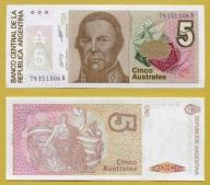-- ARGENTYNA 5 AUSTRALES nd/ 1985 79A P324b(2)