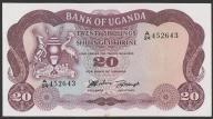 Uganda - 20 shilling - 1966 - stan UNC -