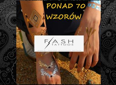 Flash Złoty Tatuaż Duży Rozmiar Złote Tatuaże Met