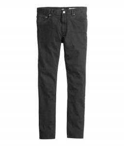 Spodnie z diagonalu H&M Czarne roz. 33