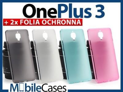 OnePlus 3   ETUI POKROWIEC GUMA CASE + 2xFOLIA