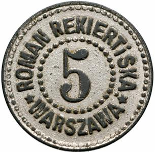 1460. Warszawa, Roman Rekiert i Ska - nominał 5
