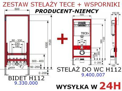 Tece Stelaz Wc Bidetowy Bidetu Zestaw Podtynkowy 2684654963
