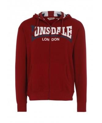Bluza LONSDALE LONDON Watlington czerwona XL