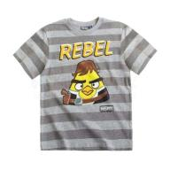 T-shirt Angry Birds Star Wars kolor szary R. 152
