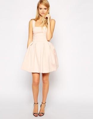 16fa8e5f56 Sukienka ASOS r.36 S pudrowy róż - 6980043274 - oficjalne archiwum ...