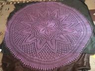 fioletowa serweta obrus ręcznie robiony na prezent