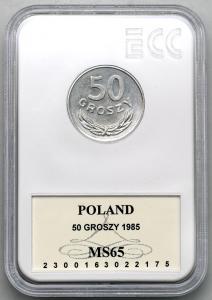 4621. 50 groszy 1985 - GCN MS65