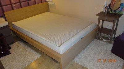 Rama łóżka Stelaż Ikea Malm 140x200 Dąb Bielony