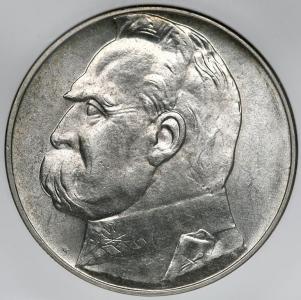 5110. 10 zł 1936 Piłsudski - NGC MS63