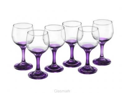 Kieliszki Na Wino 175 Ml Fioletowa Nóżka I Stopka 2597882793