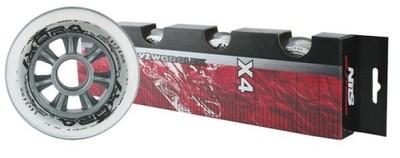 4x Kółka Do Rolek Kauczukowe NILS komplet 84x24mm