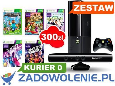 Konsola Xbox 360 250gb Kinect 5gier Bonus 300zl 3964466424 Oficjalne Archiwum Allegro