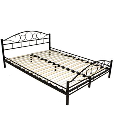 łóżko Metalowe Kute 140x200 Podwójne Ze Stelażem