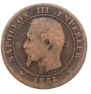 Francja - moneta - 2 Centymy 1854 W - 2 - RZADKA !