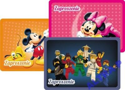Zaproszenia Na Urodziny Ninjago Mickey Promocja 6663974414