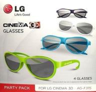 Okulary 3D LG AG-F315 LG PASYWNE komplet 4 SZTUKI