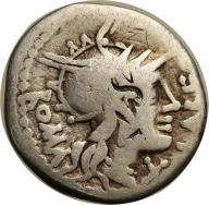 Rzym - Republika AR-denar Q.Fabius Labeo 124 pne