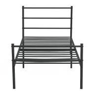 Łóżko aluminiowe czarne modern Aingoo A8H256