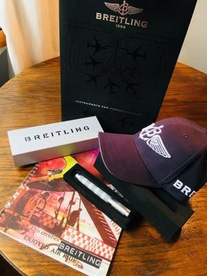 BREITLING - zestaw - długopis czapka notes torba