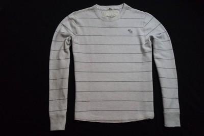 ABERCROMBIE&FITCH koszulka bluza paski logo_XL