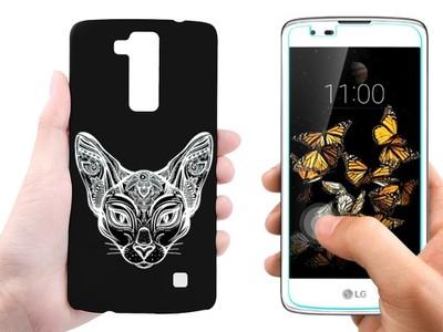 Etui Nakładka+Szkło Hartowane do telefonu LG K8