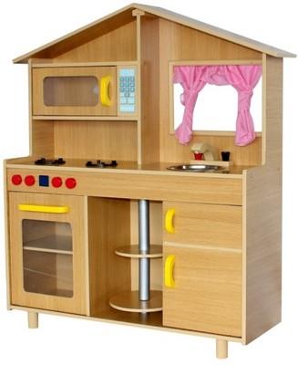 Duża Kuchnia Drewniana Dla Dzieci Wysoka Jakość 6423111591
