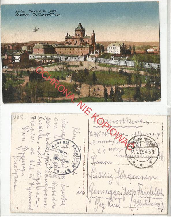 Lwów, Cerkiew Św. Jura, poczta polowa, 1917