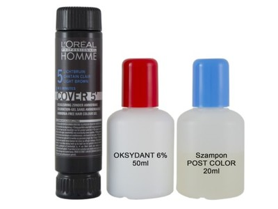 LOREAL HOMME COVER 5' ODSIWIACZ + OXYDANT +SZAMPON