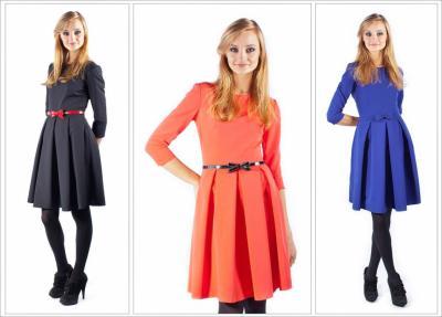 Sukienka kontrafałdy pastele kolory 34 44 Kate 36