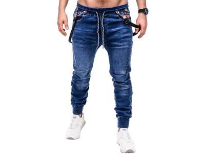 Modne spodnie męskie joggery OMBRE P448 jeans XXL