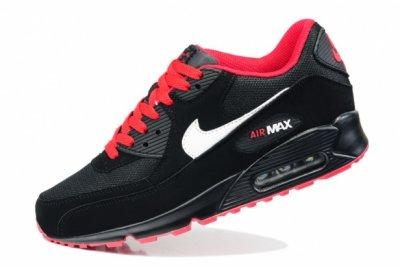 nike air max 90 czarno-czerwone r.36