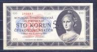 Czechosłowacja -100  koron  -1945 ..P67S..aUNC