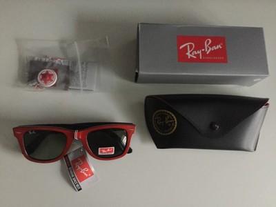 5d0d8bb86c010f RAY BAN WAYFAHRER rb okulary czerwono czarne - 6795960379 ...