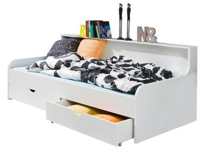 Białe łóżko Młodzieżowe Z Szufladami Vibo 10 Dni