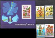 GRENADA Gren. kwiaty hibiskus Mi:320/23+B41**