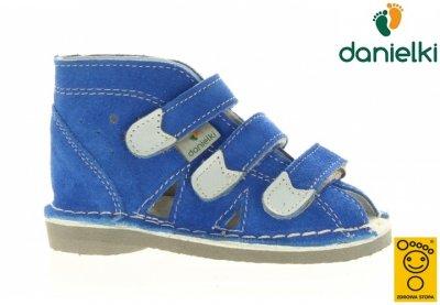 Kapcie DANIELKI buty profilaktyczne S104 blue, 23