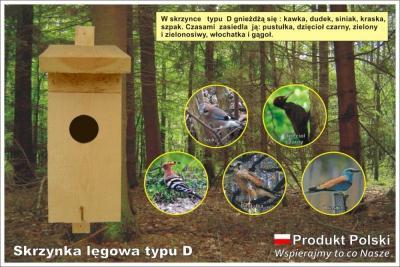 Budki lęgowe dla ptaków typ D, Budka dla ptaków