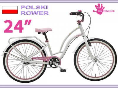 Rower Na Komunie Dla Dziewczynki 24 Bialy 4006725258 Oficjalne Archiwum Allegro