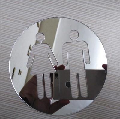 Chłodny Naklejki 3D na drzwi WC EFEKT LUSTRA !! - 6620426066 - oficjalne XU29