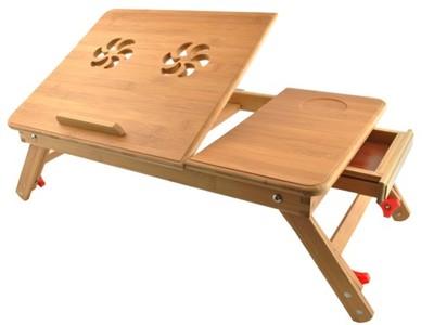 Stolik Drewniany Pod Laptop Regulacja Bambus 6666339157